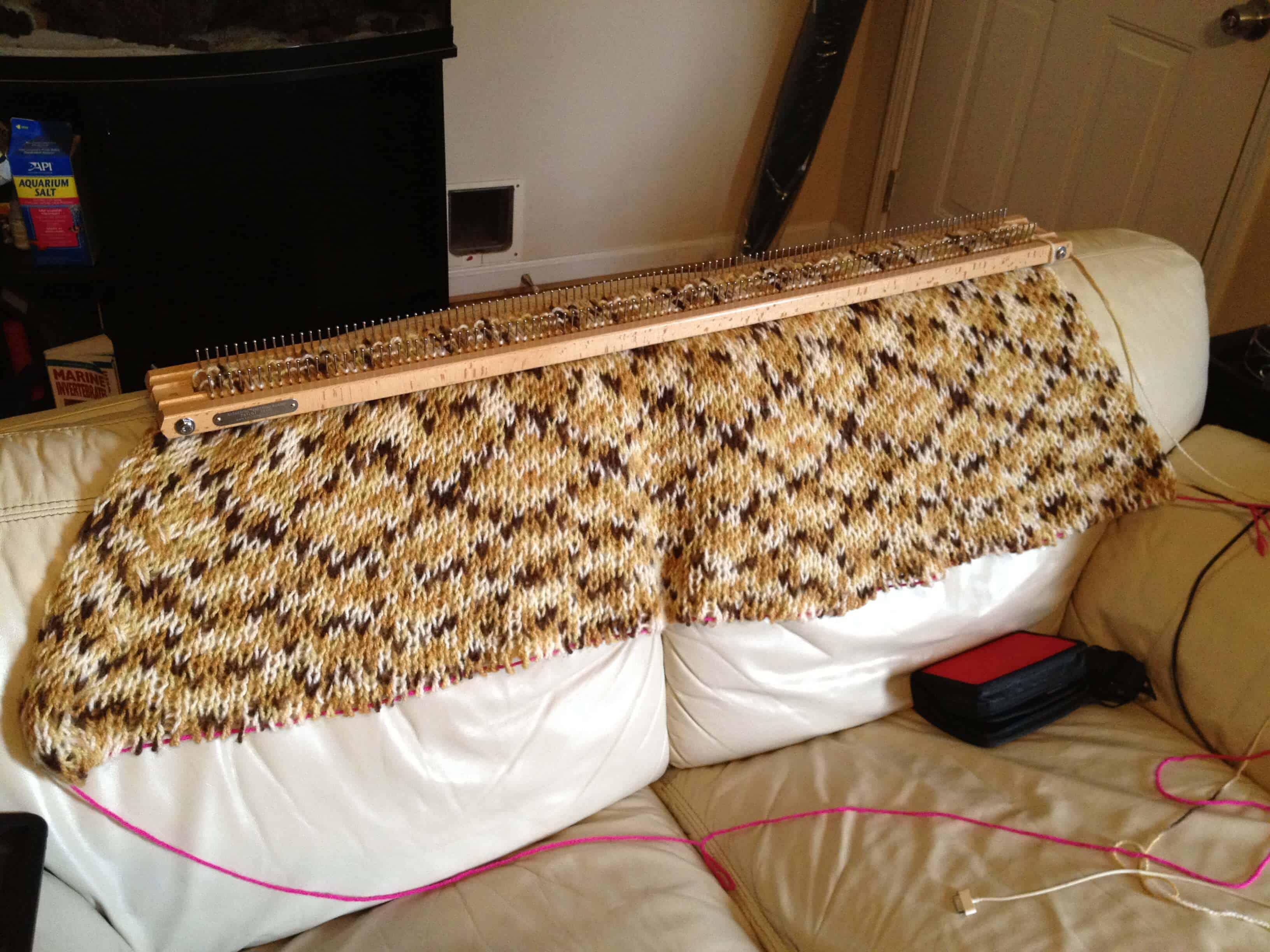 Knitting Board Afghan
