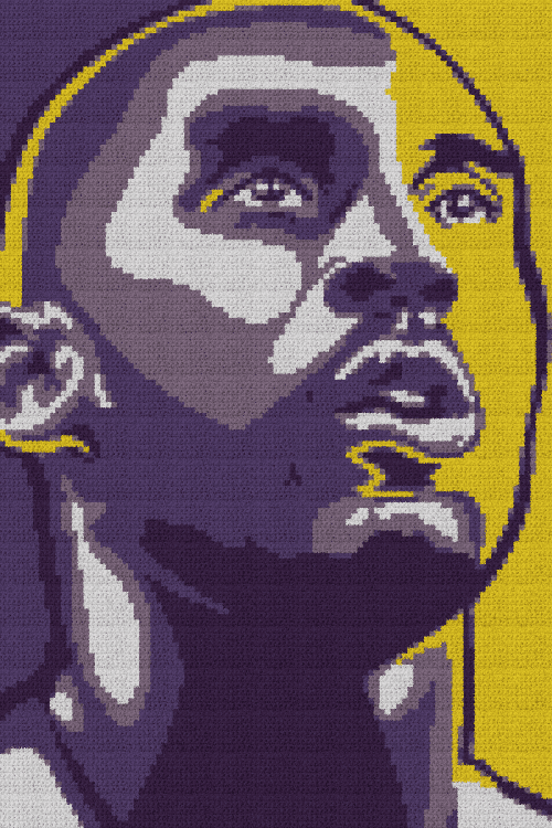 Kobe Bryant - Single Crochet Written Graphghan Pattern - 01 (100x150)