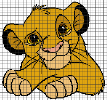 The Lion King - Little Simba Crochet Graphghan Pattern (Chart/Graph AND Row-by-Row Written Instructions)