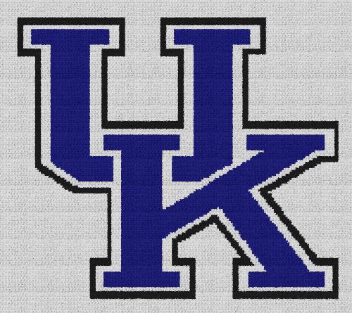University of Kentucky - Single Crochet Written Graphghan Pattern - 03 (172x152)
