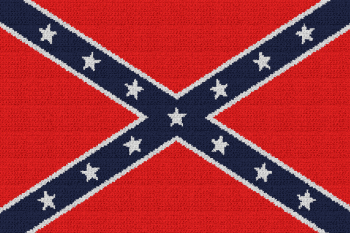 Confederate/Rebel Flag - Single Crochet Written Graphghan Pattern - 04 (224x149)