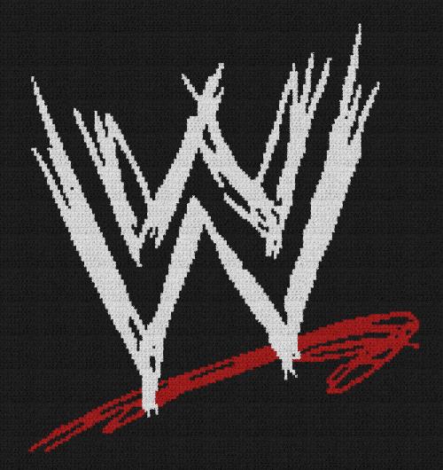 WWE Logo - Single Crochet Written Graphghan Pattern - 01 (160x170)