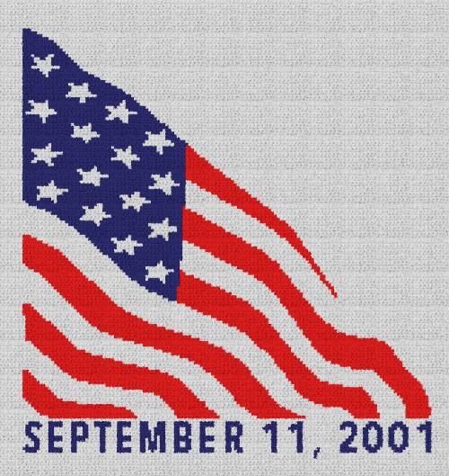 September 11, 2011 - 9/11 Tribute - Single Crochet Written Graphghan Pattern - 01 (149x158)