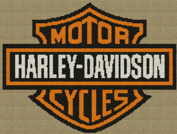 Harley-Davidson Motorcycles - Single Crochet Written Graphghan Pattern - 08 (199x151)
