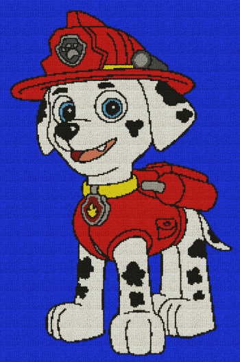 Marshall (Paw Patrol) - Single Crochet Written Graphghan Pattern - 01 (176x270)