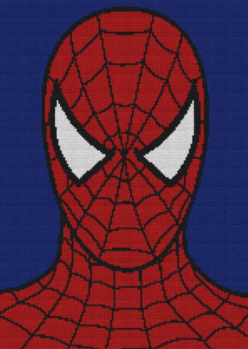 Spiderman - Single Crochet Written Graphghan Pattern - 08 (150x211)