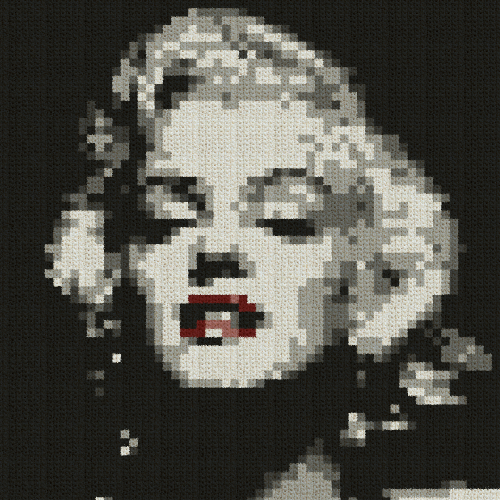 Marilyn Monroe PILLOW - Single Crochet Written Graphghan Pattern - 03 (60x60)