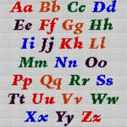 Alphabet Blanket (Graph AND Row-by-Row Written Crochet Instructions) - 01