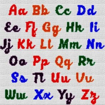Alphabet Blanket (Graph AND Row-by-Row Written Crochet Instructions) - 04