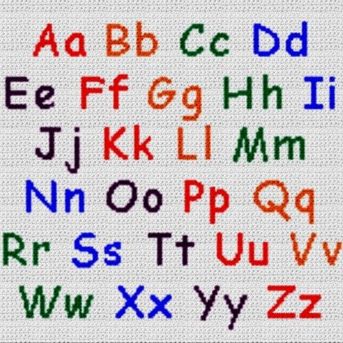 Alphabet Blanket (Graph AND Row-by-Row Written Crochet Instructions) - 06