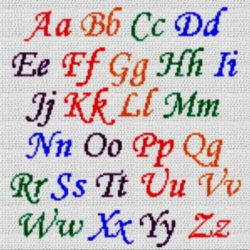 Alphabet Blanket (Graph AND Row-by-Row Written Crochet Instructions) - 08
