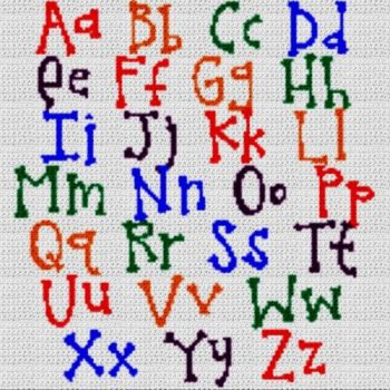 Alphabet Blanket (Graph AND Row-by-Row Written Crochet Instructions) - 11