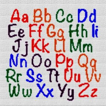 Alphabet Blanket (Graph AND Row-by-Row Written Crochet Instructions) - 13