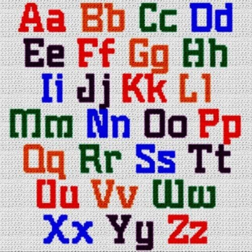 Alphabet Blanket (Graph AND Row-by-Row Written Crochet Instructions) - 14