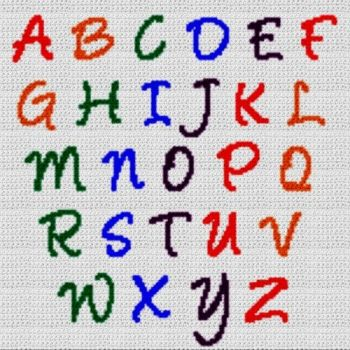 Alphabet Blanket (Graph AND Row-by-Row Written Crochet Instructions) - 15