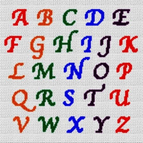 Alphabet Blanket (Graph AND Row-by-Row Written Crochet Instructions) - 16