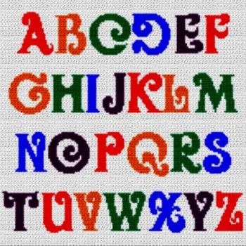 Alphabet Blanket (Graph AND Row-by-Row Written Crochet Instructions) - 20