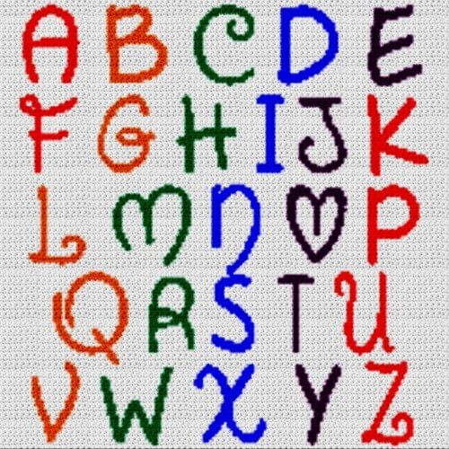Alphabet Blanket (Graph AND Row-by-Row Written Crochet Instructions) - 21