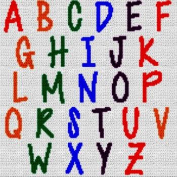 Alphabet Blanket (Graph AND Row-by-Row Written Crochet Instructions) - 22