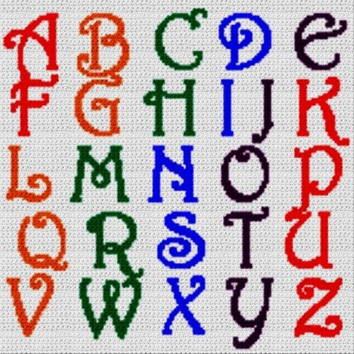 Alphabet Blanket (Graph AND Row-by-Row Written Crochet Instructions) - 24