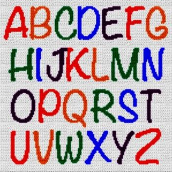 Alphabet Blanket (Graph AND Row-by-Row Written Crochet Instructions) - 25