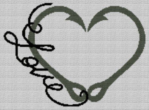 Fishing Love (Graph AND Row-by-Row Written Crochet Instructions) - 03
