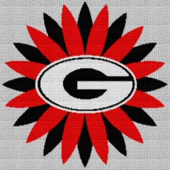 University Of Georgia Bulldawgs (Graph AND Row-by-Row Written Crochet Instructions) - 07