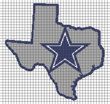 Dallas Cowboys (Graph AND Row-by-Row Written Crochet Instructions) - 03