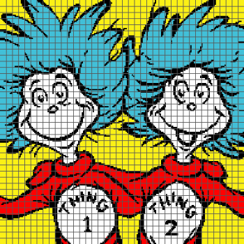 Thing 1 and Thing 2 (Graph AND Row-by-Row Written Crochet Instructions) - 03
