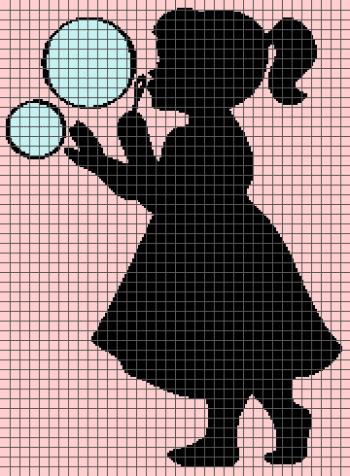 Little Girl Blowing Bubbles (Graph AND Row-by-Row Written Crochet Instructions) - 02