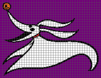Zero - The Nightmare Before Christmas (Graph AND Row-by-Row Written Crochet Instructions) - 05