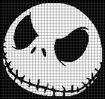 Jack Skellington - The Nightmare Before Christmas (Graph AND Row-by-Row Written Crochet Instructions) - 06