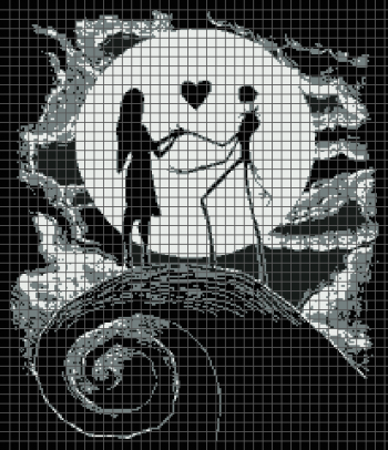 Jack & Sally - The Nightmare Before Christmas (Graph AND Row-by-Row Written Crochet Instructions) - 07