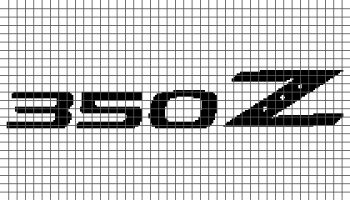 Nissan 350Z Logo (Graph AND Row-by-Row Written Crochet Instructions) - 01