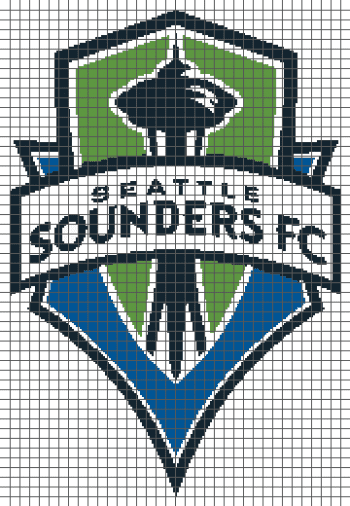 Seattle Sounders FC (Graph AND Row-by-Row Written Crochet Instructions) - 03