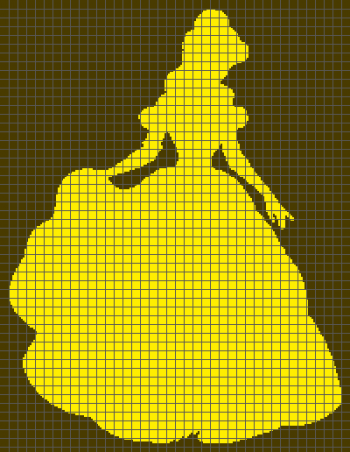 Beauty and the Beast - Belle - (Graph AND Row-by-Row Written Crochet Instructions) - 01