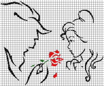 Beauty and the Beast - (Graph AND Row-by-Row Written Crochet Instructions) - 04
