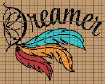 Dreamer - Dreamcatcher - (Graph AND Row-by-Row Written Crochet Instructions) - 01