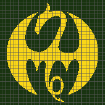 Iron Fist Dragon Logo - (Graph AND Row-by-Row Written Crochet Instructions) - 01