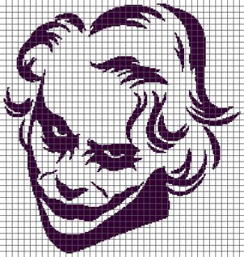 The Joker - (Graph AND Row-by-Row Written Crochet Instructions) - 01