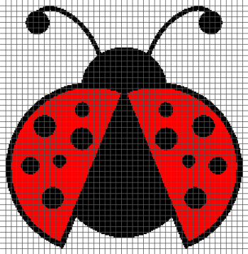 Ladybug - (Graph AND Row-by-Row Written Crochet Instructions) - 01