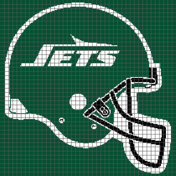 New York Jets Helmet - (Graph AND Row-by-Row Written Crochet Instructions) - 02