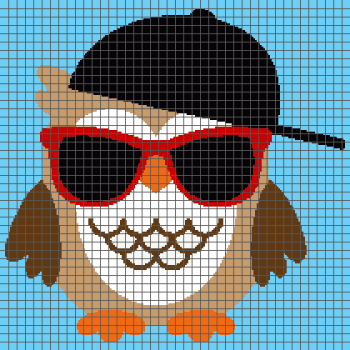 Cool Owl - (Graph AND Row-by-Row Written Crochet Instructions) - 07