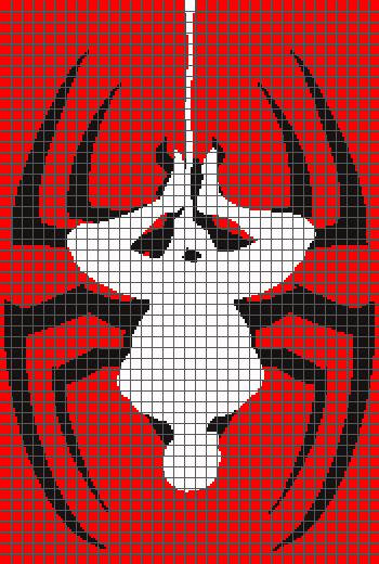 Spider-Man Upside-Down - (Graph AND Row-by-Row Written Crochet Instructions) - 09