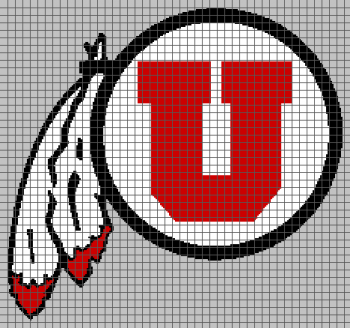 The University of Utah - (Graph AND Row-by-Row Written Crochet Instructions) - 01