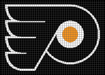 Philadelphia Flyers - (Graph AND Row-by-Row Written Crochet Instructions) - 06