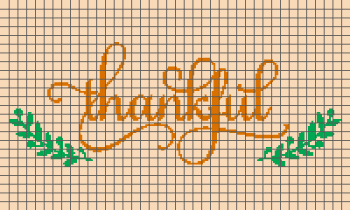 Thankful Script - (Graph AND Row-by-Row Written Crochet Instructions) - 01