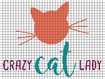 Crazy Cat Lady - (Graph AND Row-by-Row Written Crochet Instructions) - 03
