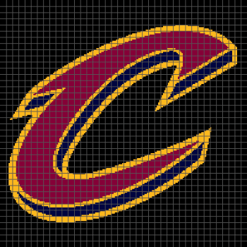 Cleveland Cavaliers - (Graph AND Row-by-Row Written Crochet Instructions) - 01