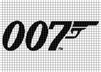 James Bond 007 - (Graph AND Row-by-Row Written Crochet Instructions) - 01